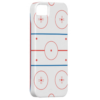 ice hockey rink graphic iPhone 5 cover