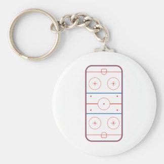 ice hockey rink graphic key ring