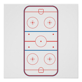 ice hockey rink graphic poster