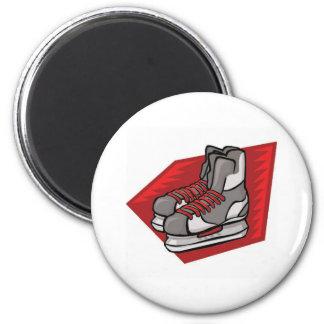 Ice Hockey Skates 6 Cm Round Magnet