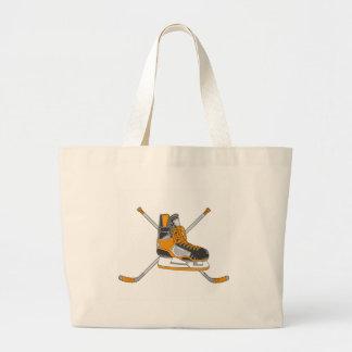 Ice Hockey Skates Jumbo Tote Bag