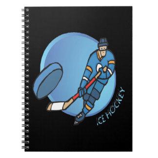 Ice Hockey Spiral Notebook