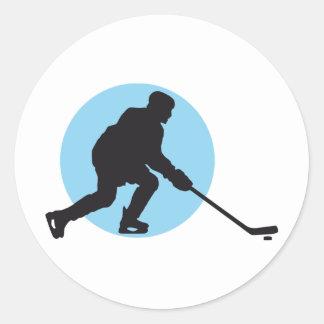 ice hockey round sticker