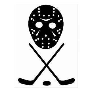 Ice Hockey Sticks and Mask Postcard