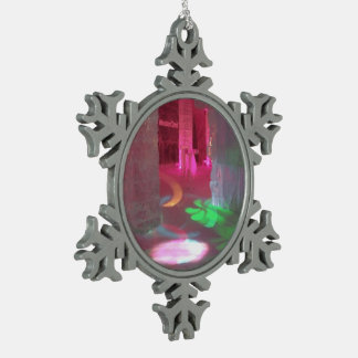 Ice Hotel, Sweden - Pewter Snowflake Ornament