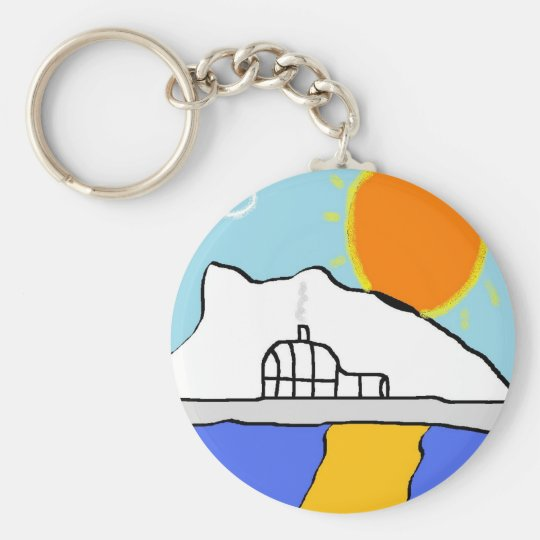 ice igloo basic round button key ring