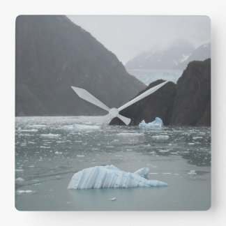 Ice in Tracy Arm Fjord Clock