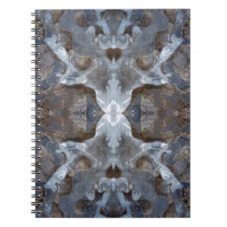 Ice kaleidoscope pattern notebooks