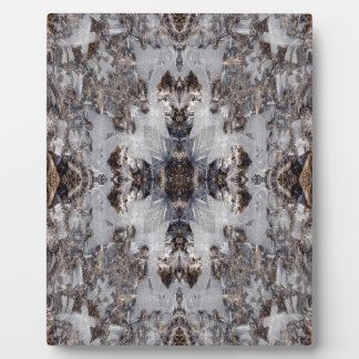 Ice kaleidoscope pattern plaques