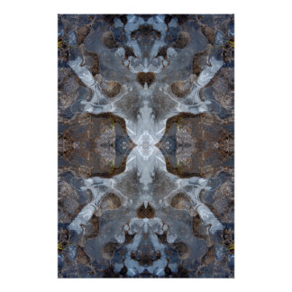 Ice kaleidoscope pattern poster