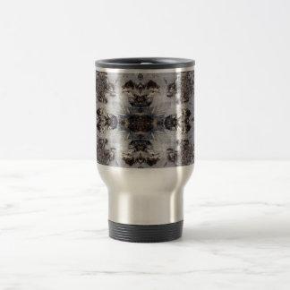Ice kaleidoscope pattern travel mug