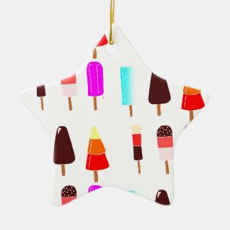 Ice lollies ceramic star decoration