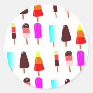 Ice lollies classic round sticker