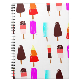 Ice lollies spiral notebook