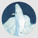 Ice Maiden with Bears Large Sticker