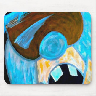 Ice man character mouse pad