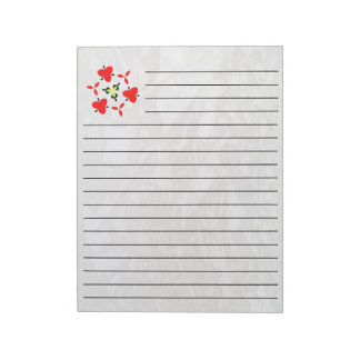 Ice on the ground notepad