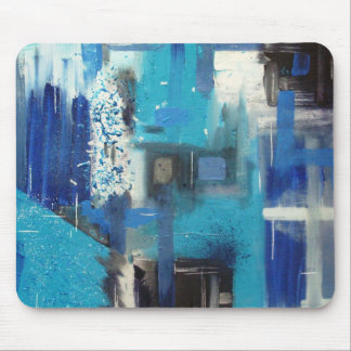 Ice - Original Mixed Media Abstract Design Mouse Pad