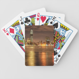 Ice partially melted on Charles River in Boston Bicycle Playing Cards