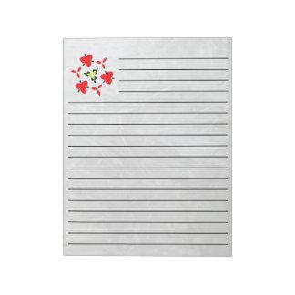 Ice pattern notepad