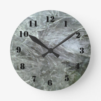 Ice pattern round clock