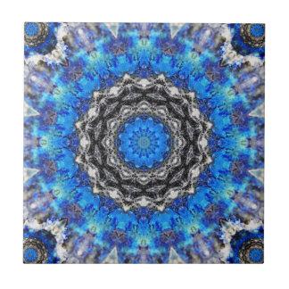 Ice Petals Mandala Small Square Tile