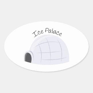 Ice Place Oval Sticker