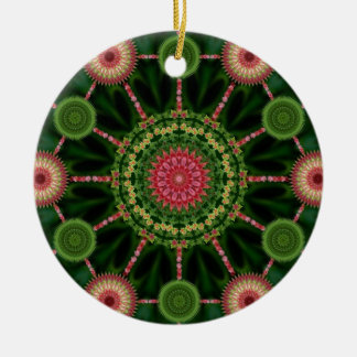 Ice Plant Mandala & Array Christmas Ornament