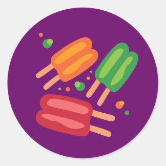 Ice Pops Classic Round Sticker