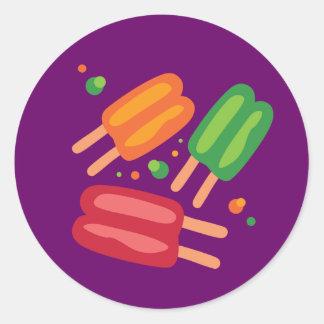 Ice Pops Round Sticker