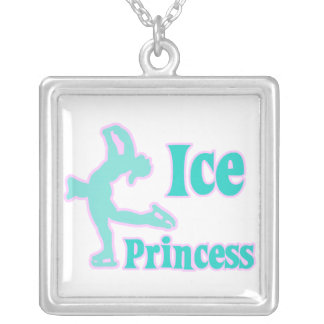 ice princess figure skating pastel design personalized necklace