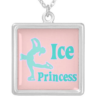 ice princess figure skating pastel design necklaces