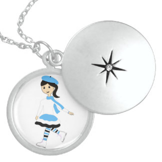 Ice Princess Round Locket Necklace