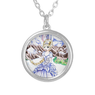 Ice Princess Round Pendant Necklace