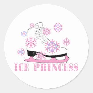 Ice Princess Skate Round Sticker