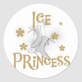 Ice Princess Tshirts and Gifts Round Stickers