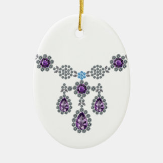 Ice Queen Necklace Christmas Ornament