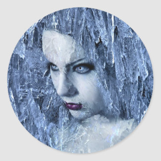 ice queen round stickers