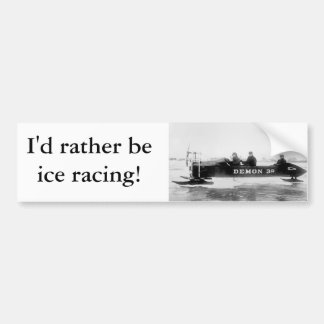 Ice Racing, Duluth, 1910s Bumper Sticker