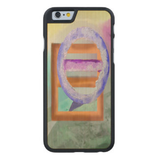 Ice Ring Abstract Design Carved® Maple iPhone 6 Slim Case