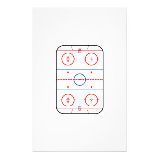 Ice Rink Diagram Hockey Game Companion 14 Cm X 21.5 Cm Flyer