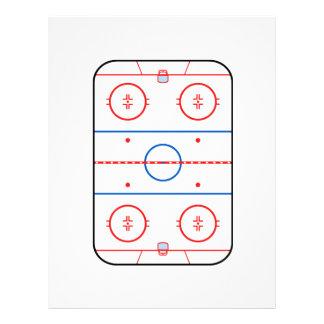 Ice Rink Diagram Hockey Game Companion 21.5 Cm X 28 Cm Flyer