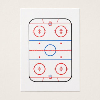 Ice Rink Diagram Hockey Game Companion Business Card