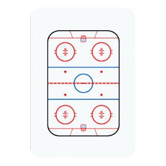 Ice Rink Diagram Hockey Game Companion Card
