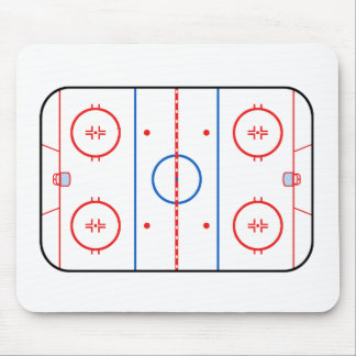 Ice Rink Diagram Hockey Game Companion Mouse Mat