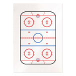 Ice Rink Diagram Hockey Game Companion Pack Of Chubby Business Cards