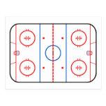 Ice Rink Diagram Hockey Game Companion Postcard