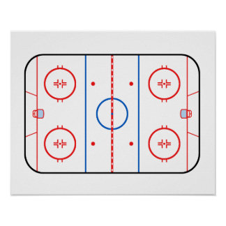 Ice Rink Diagram Hockey Game Companion Poster