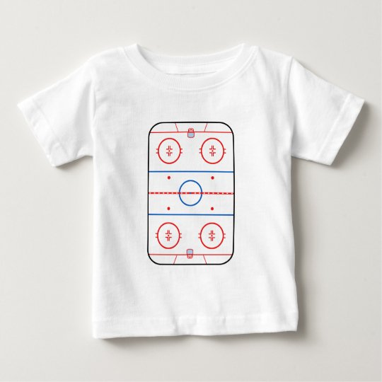 Ice Rink Diagram Hockey Game Decor Baby T Shirt Zazzle