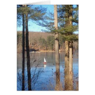 Ice Sailing on the Lake --- Card